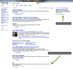 Search for Search Engine on Bing